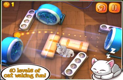 Écrans du jeu Wake the Cat pour iPhone, iPad ou iPod.