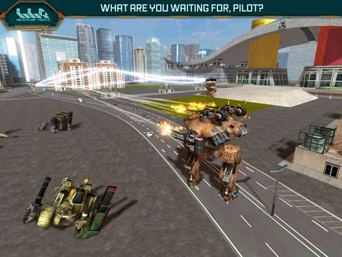 Screenshots vom Spiel Walking war robots für iPhone, iPad oder iPod.