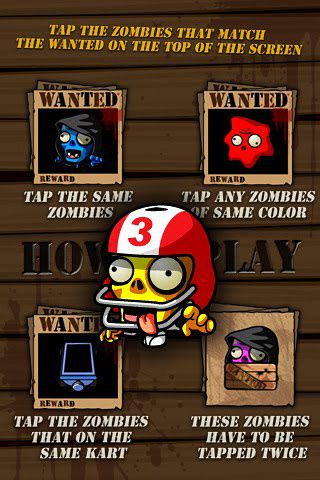 Screenshots vom Spiel Wanted zombies für iPhone, iPad oder iPod.