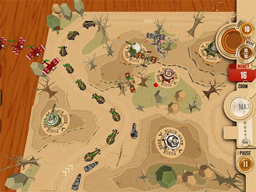 Descarga gratuita de War in a box: Paper tanks para iPhone, iPad y iPod.