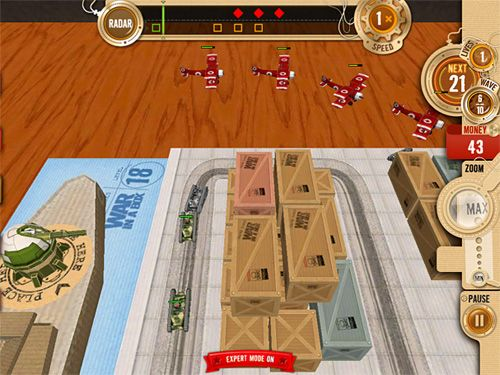 Capturas de pantalla del juego War in a box: Paper tanks para iPhone, iPad o iPod.