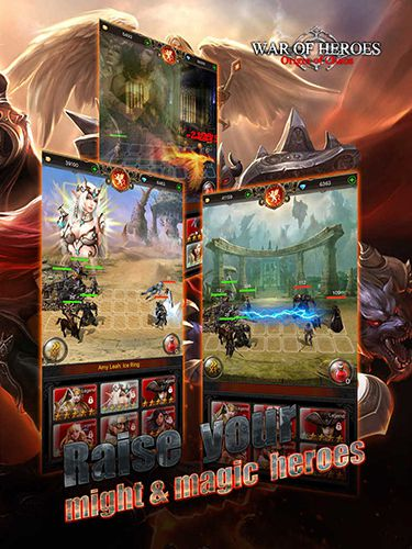 Screenshots vom Spiel War of heroes: Origin of chaos für iPhone, iPad oder iPod.