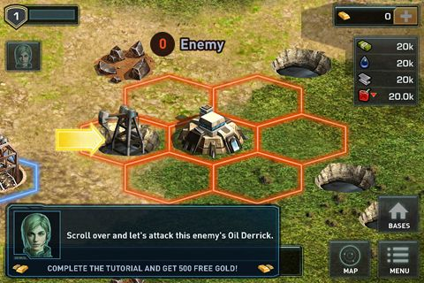 Écrans du jeu War of nations pour iPhone, iPad ou iPod.