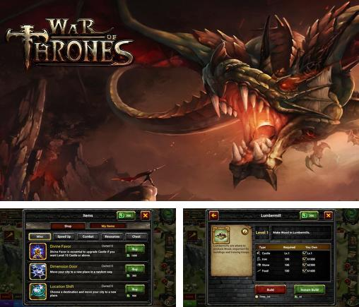 In addition to the game Restaurant rush for iPhone, iPad or iPod, you can also download War of thrones for free.