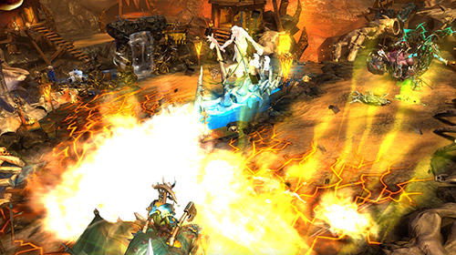 Capturas de pantalla del juego Warhammer. Age of Sigmar: Realm war para iPhone, iPad o iPod.