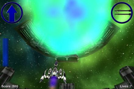 Screenshots of the Warp gate runner game for iPhone, iPad or iPod.
