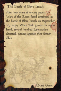 Screenshots vom Spiel Wars of the Roses für iPhone, iPad oder iPod.