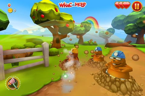 Capturas de pantalla del juego Whac a mole para iPhone, iPad o iPod.