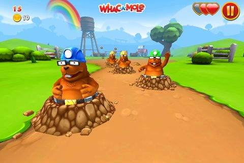 Screenshots of the Whac a mole game for iPhone, iPad or iPod.