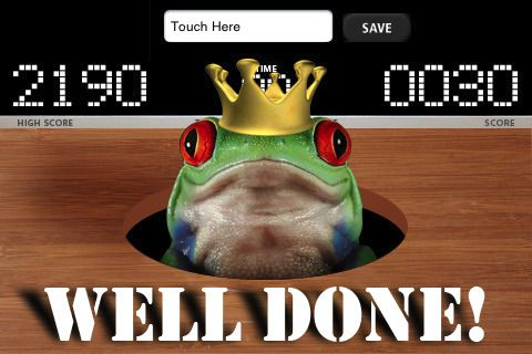 Screenshots of the Whack it: Frogs game for iPhone, iPad or iPod.