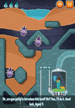 Capturas de pantalla del juego Where's My Perry? para iPhone, iPad o iPod.
