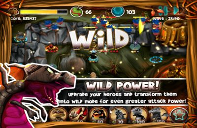 Capturas de pantalla del juego Wild Heroes para iPhone, iPad o iPod.