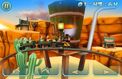 Download Wild West 3D Rollercoaster Rush iPhone free game.