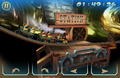Screenshots of the Wild West 3D Rollercoaster Rush game for iPhone, iPad or iPod.