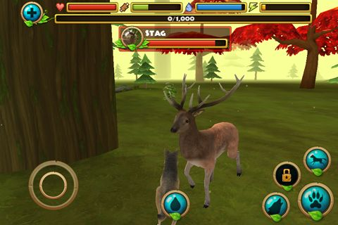 Capturas de pantalla del juego Wildlife simulator: Wolf para iPhone, iPad o iPod.