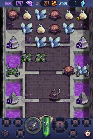 Screenshots of the Wizard quest game for iPhone, iPad or iPod.