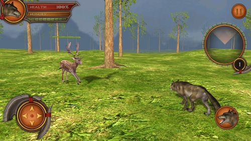 Capturas de pantalla del juego Wolf simulator 2: Pro para iPhone, iPad o iPod.