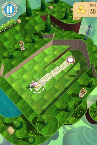 Screenshots of the Wonder golf game for iPhone, iPad or iPod.