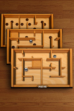 Capturas de pantalla del juego Wooden Labyrinth 3D para iPhone, iPad o iPod.