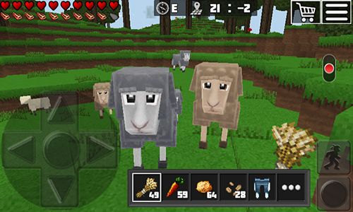 Screenshots vom Spiel World of cubes: Survival craft für iPhone, iPad oder iPod.