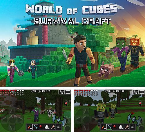 除了 iPhone、iPad 或 iPod 游戏,您还可以免费下载World of cubes: Survival craft, 。