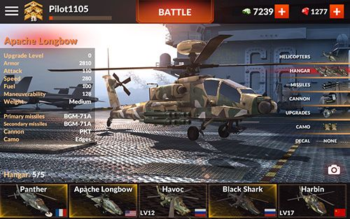 Screenshots vom Spiel World of gunships für iPhone, iPad oder iPod.