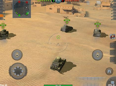 Screenshots vom Spiel World of tanks: Blitz für iPhone, iPad oder iPod.