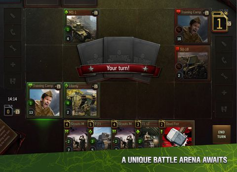 Écrans du jeu World of tanks: Generals pour iPhone, iPad ou iPod.