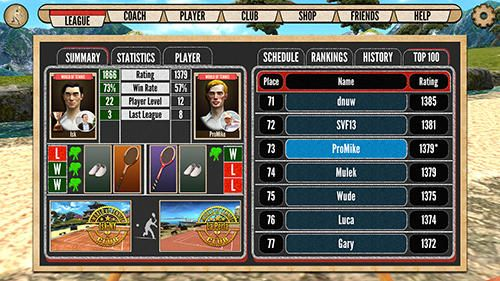 Kostenloser Download von World of tennis: Roaring 20's für iPhone, iPad und iPod.