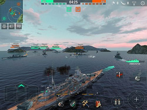 Kostenloser Download von World of warships blitz für iPhone, iPad und iPod.