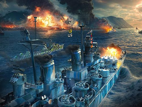 Écrans du jeu World of warships blitz pour iPhone, iPad ou iPod.