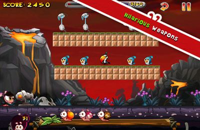 Screenshots of the Worm vs Birds game for iPhone, iPad or iPod.