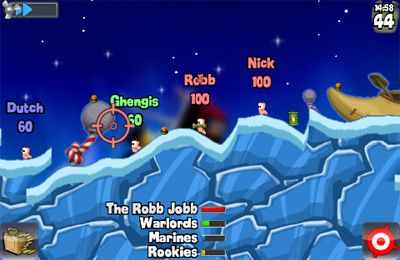 Capturas de pantalla del juego Worms para iPhone, iPad o iPod.