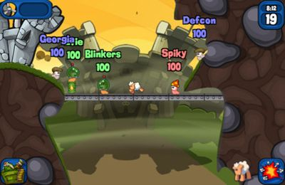 iPhone、iPad 或 iPod 版Worms 2: Armageddon游戏截图。