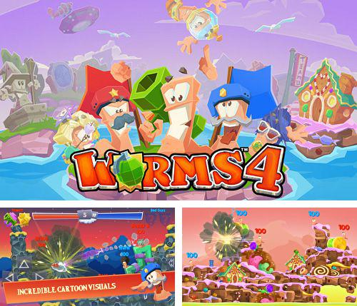 In addition to the game Star wars. The force awakens: Pinball 4 for iPhone, iPad or iPod, you can also download Worms 4 for free.