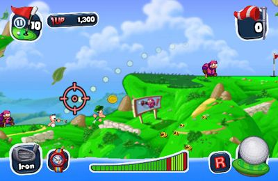 Download Worms Crazy Golf iPhone free game.