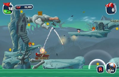 Screenshots vom Spiel Worms Crazy Golf für iPhone, iPad oder iPod.