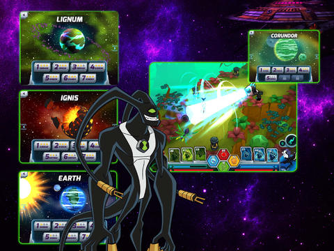 Capturas de pantalla del juego Wrath of Psychobos – Ben 10 Omniverse para iPhone, iPad o iPod.