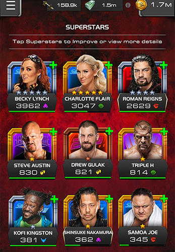 Screenshots do jogo WWE universe para iPhone, iPad ou iPod.