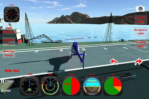 Download Helicopter: Flight simulator 3D iPhone free game.