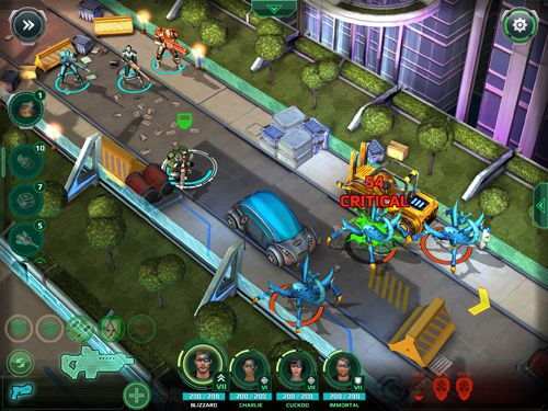Screenshots of the X-Mercs game for iPhone, iPad or iPod.
