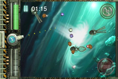 Écrans du jeu Xenon shooter: The space defender pour iPhone, iPad ou iPod.