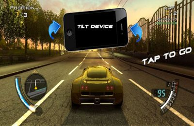 Capturas de pantalla del juego Xtreme Super Car Racing para iPhone, iPad o iPod.