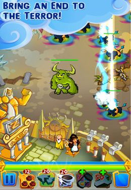 Capturas de pantalla del juego Zeus Defense para iPhone, iPad o iPod.