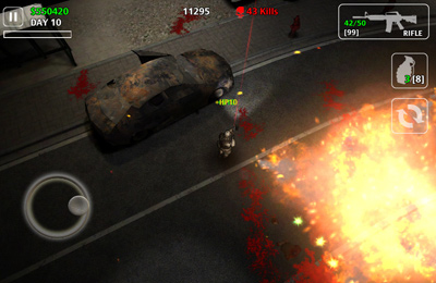 Screenshots vom Spiel Z.I.D 2 : ZOMBIES IN DARK 2 für iPhone, iPad oder iPod.