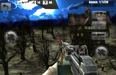 Capturas de pantalla del juego Zombie Air Sniper para iPhone, iPad o iPod.