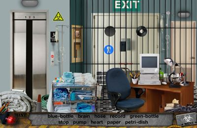 Screenshots vom Spiel Zombie Attack – Hidden Objects für iPhone, iPad oder iPod.