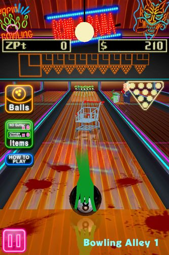 Download Zombies bowling iPhone free game.