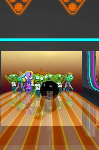 Screenshots of the Zombies bowling game for iPhone, iPad or iPod.