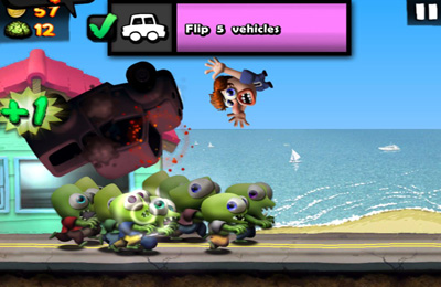Screenshots do jogo Zombie Carnaval para iPhone, iPad ou iPod.